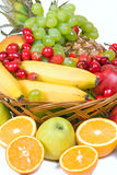 Punnet with fruits Royalty Free Stock Image