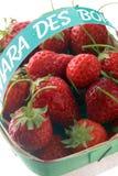 Punnet of Mara des bois strawberries Royalty Free Stock Image