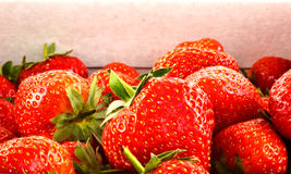 Punnet of strawberries Stock Photo