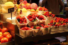 Punnets of strawberries Royalty Free Stock Photos