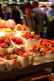 Punnets of strawberries and forest fruits Royalty Free Stock Photography