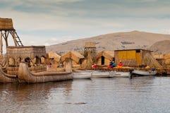 Puno, λίμνη Titicaca στοκ φωτογραφία