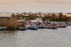 Puno, λίμνη Titicaca στοκ εικόνες