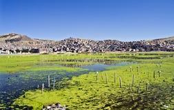 Puno City and lake titikaka, Perù Stock Photos