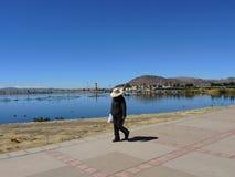 Puno et lac Titicaca, Pérou Images stock