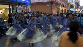 PUNO - FEBRUARY 9: A group of dancers were preparing the performance during Virgen de La Candelaria Festival February 9, 2009 in Stock Image