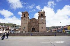 Puno jeziorny Titicaca w Peru Fotografia Royalty Free