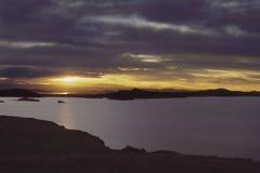 Puno, lago Titicaca Fotografia Stock