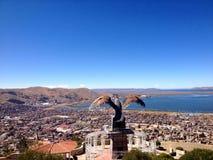 Puno, le Pérou et condor d'en haut : Mirador de Kuntur Wasi Photo libre de droits