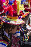 Puno, Peru - August 20, 2016: Native people from peruvian city d Royalty Free Stock Images