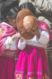 Puno, Peru - August 20, 2016: Native people from peruvian city d Stock Photography