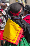 Puno, Peru - August 20, 2016: Native people from peruvian city d Royalty Free Stock Photo