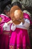 Puno, Peru - August 20, 2016: Native people from peruvian city d Stock Photo