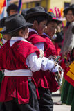 Puno, Peru - August 20, 2016: Native people from peruvian city d Stock Image