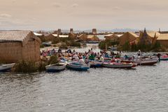 Puno, Titicaca lake Stock Photo