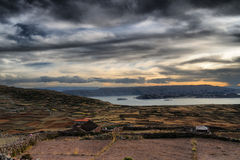 Puno, Titicaca lake Stock Images
