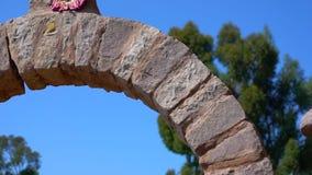 Puno tur på sjön Titicaca stock video