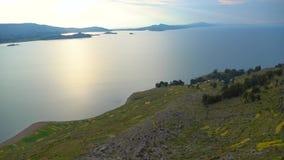 Puno tur på sjön Titicaca arkivfilmer
