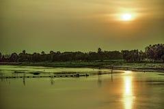 Punorvoba河,迪纳杰布尔,RÄ  jshÄ 喂,孟加拉国 免版税库存照片