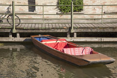 Punt Boat on River Cam, Cambridge. England Stock Photos
