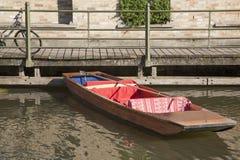 Punt Boat on River Cam, Cambridge Stock Photos