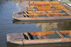 Punt Boats on River Cam, Cambridge. England Royalty Free Stock Photography