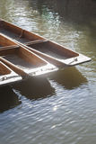 Punt Boats on River Cam, Cambridge. England Royalty Free Stock Photo
