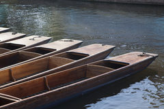 Punt Boats on River Cam, Cambridge Stock Image