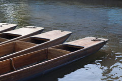 Punt Boats on River Cam, Cambridge Stock Images