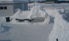 92 punt in de sneeuw die van Canada wordt begraven Stock Afbeelding