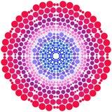 Punt het schilderen om ornamentmandala Kleurrijk vectorart. Stock Fotografie