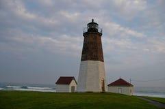 Punt Judith Lighthouse, Narragansett, RI stock afbeeldingen