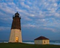 Punt Judith Lighthouse, Narragansett, RI Royalty-vrije Stock Foto