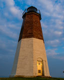 Punt Judith Lighthouse, Narragansett, RI Stock Foto's