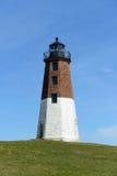 Punt Judith Lighthouse, Narragansett, RI, de V.S. stock afbeeldingen