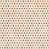 Punt naadloos patroon met grungeeffect Stock Fotografie