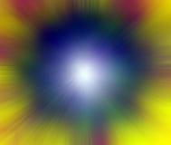 Punt van Lichte Exploderende Kleur Royalty-vrije Stock Afbeeldingen