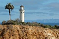 Punt Vicente Lighthouse op Palos Verdes Peninsula, de Provincie van Los Angeles, Californië Stock Foto