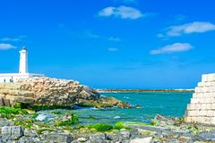 Punta Сан Cataldo di Lecce, Италия стоковые изображения rf