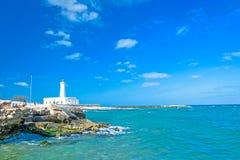 Punta Сан Cataldo di Lecce, Италия стоковые фотографии rf