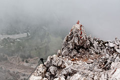Punta Anna via ferrata Royalty Free Stock Images