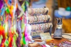Punta Arabi hipisa rynek jest sławnym miejscem na wyspie dokąd artyści sprzedają handmade pamiątki i rzemiosła obrazy royalty free