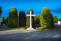 Punta Arenas, Chili - 14 juin 2013 - l'architecture célèbre du cimetière public de Punta Arenas, Chili Images libres de droits