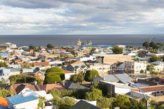 Punta Arenas overview Stock Image