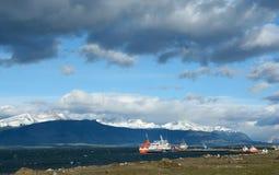 Punta Arenas shoreline 2. Shoreline near the town of Punta Arenas in Southern Chili Stock Photo
