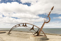 Punta Arenas statue in the strait of Magellan Royalty Free Stock Photos