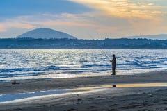 Punta Ballena Beach at Sunset Time, Uruguay Stock Photos