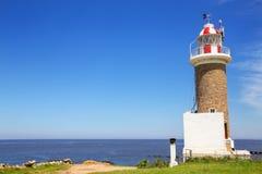 Punta Brava latarnia morska w Punta Carretas, Montevideo, Urugwaj Obrazy Stock