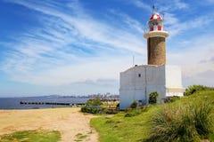 Punta Brava latarnia morska w Punta Carretas, Montevideo, Urugwaj Obraz Royalty Free