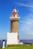 Punta Brava latarnia morska w Punta Carretas, Montevideo, Urugwaj Zdjęcia Stock